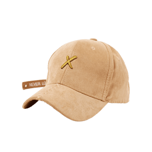 Cross Embroidered Long Tail Baseball Cap - EARTHY