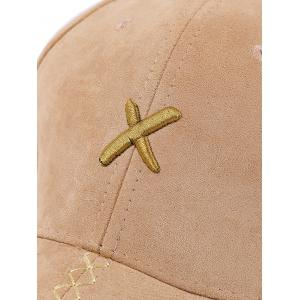 Cross Embroidered Long Tail Baseball Cap - BLACK