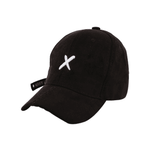 Cross Embroidered Long Tail Baseball Cap -