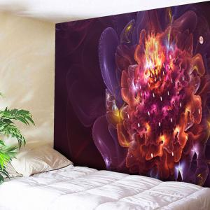 Magic Flower Print Tapestry Microfiber Wall Hanging - Red - W91 Inch * L71 Inch
