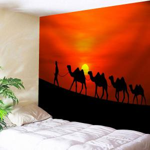 Microfiber Tapestry Sunset Camel Print Wall Hanging
