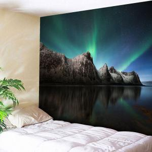 Wall Hanging Microfiber Aurora Pattern Tapestry