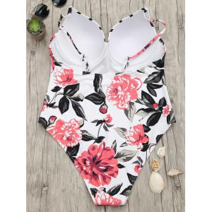 Floral One Piece Push Up Swimsuit -