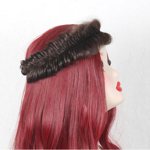 Fishbone Shape Large Colormix Braided Headband Hair Extension - Brown
