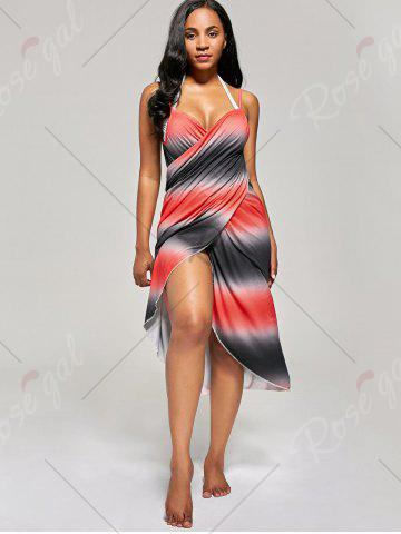 Buy Ombre Wrap Cover Up Dress - ONE SIZE RED Mobile
