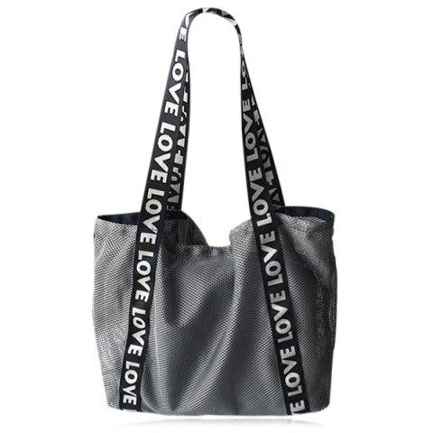 Hot Mesh Shopper Bag with Interior Bag