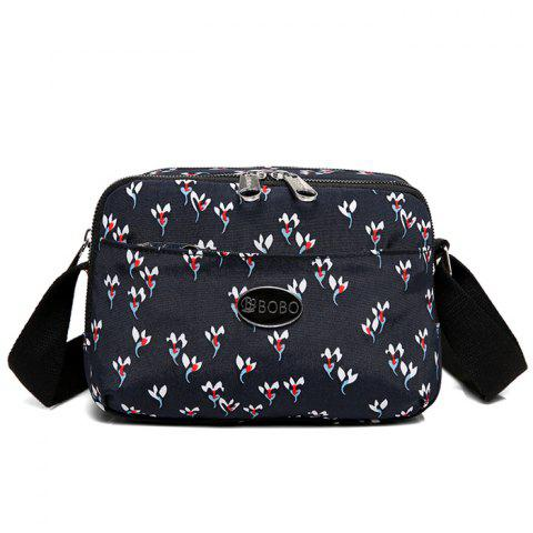Buy Printed Multi Zips Crossbody Bag - BLACK  Mobile