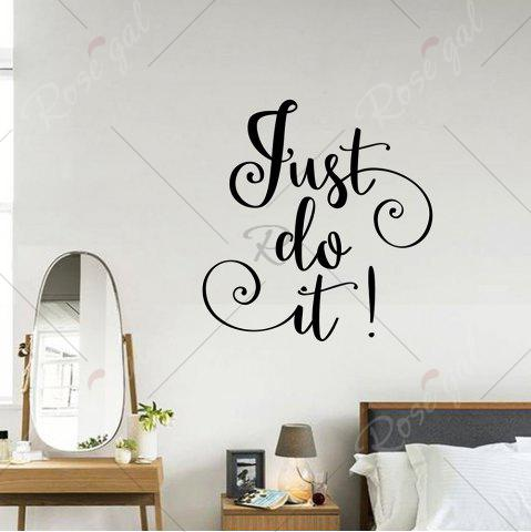 Unique Letter Just Do It Inspirational Wall Sticker - 42*40CM BLACK Mobile