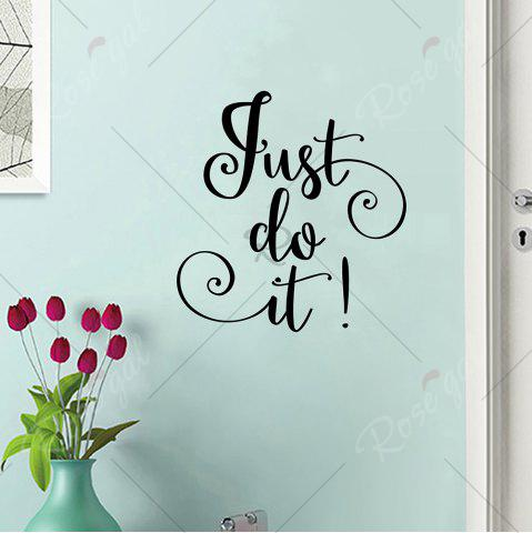 Store Letter Just Do It Inspirational Wall Sticker - 42*40CM BLACK Mobile