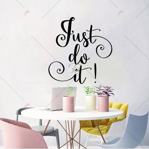Shop Letter Just Do It Inspirational Wall Sticker - 42*40CM BLACK Mobile