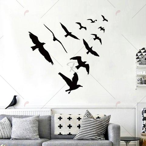 Store Birds Group Decorative Removable Wall Sticker - 57*67CM BLACK Mobile