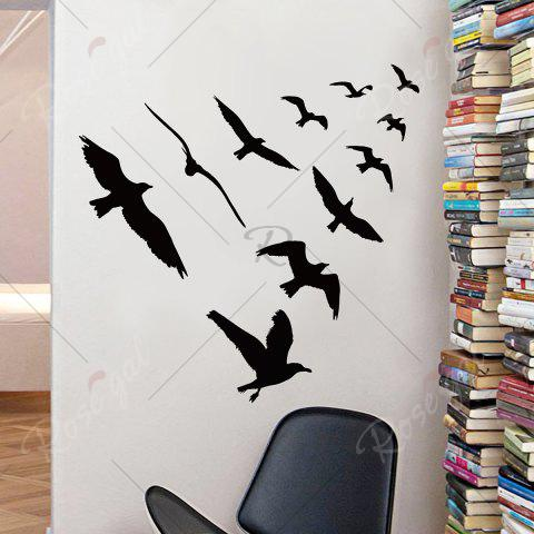 Fancy Birds Group Decorative Removable Wall Sticker - 57*67CM BLACK Mobile