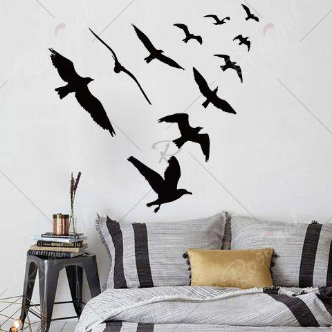 Outfits Birds Group Decorative Removable Wall Sticker - 57*67CM BLACK Mobile