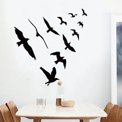 Best Birds Group Decorative Removable Wall Sticker BLACK 57*67CM