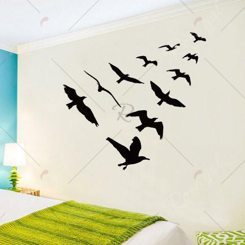 Cheap Birds Group Decorative Removable Wall Sticker - 57*67CM BLACK Mobile