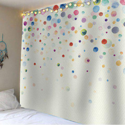 Sale Home Decor Ink Painting Dotted Waterproof Wall Art Tapestry - W59 INCH * L51 INCH COLORFUL Mobile