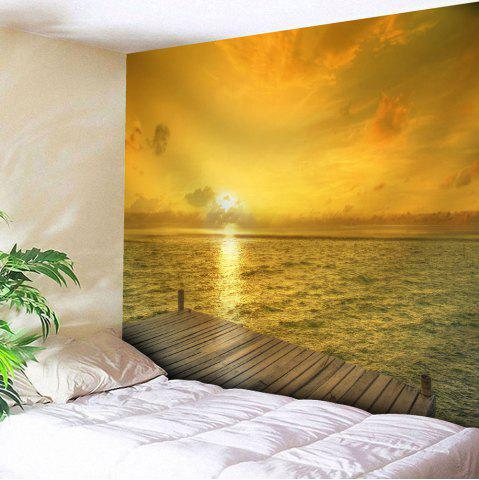 Shop Wall Hanging Microfiber Seaside Sunset Tapestry - W51 INCH * L59 INCH YELLOW Mobile