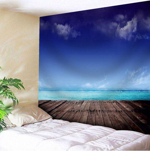 Trendy Microfiber Wall Hanging Seaside Scenery Tapestry - W51 INCH * L59 INCH BLUE Mobile