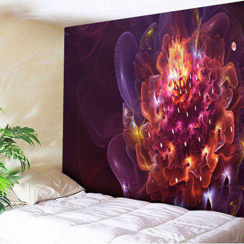 Buy Magic Flower Print Tapestry Microfiber Wall Hanging - W51 INCH * L59 INCH RED Mobile