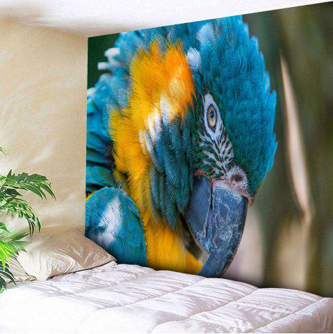 Sale Microfiber Wall Hanging Parrot Print Tapestry - W51 INCH * L59 INCH BLUE Mobile