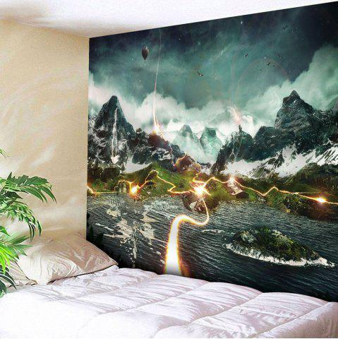 Microfibre Wall Hanging Valley Lightning Pattern Tapestry