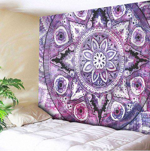 Shop Microfiber Wall Hanging Boho Mandala Pattern Tapestry - W51 INCH * L59 INCH PURPLE Mobile