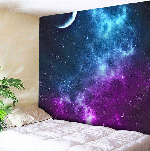 Chic Night Sky Printed Tapestry Microfiber Wall Hanging - W59 INCH * L79 INCH BLUE Mobile