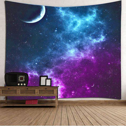 Store Night Sky Printed Tapestry Microfiber Wall Hanging - W59 INCH * L79 INCH BLUE Mobile