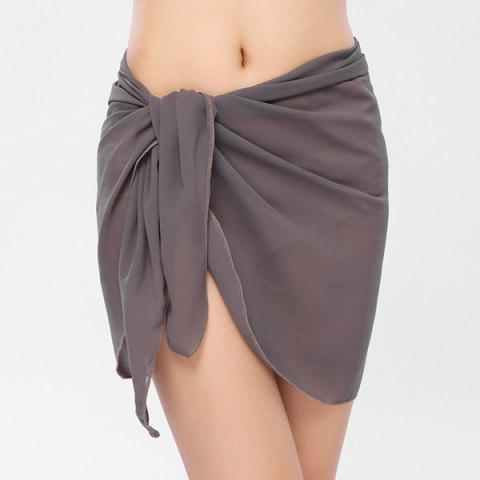 Store Beach Bikini Sarong Wrap Cover Up Scarf - GRAY  Mobile
