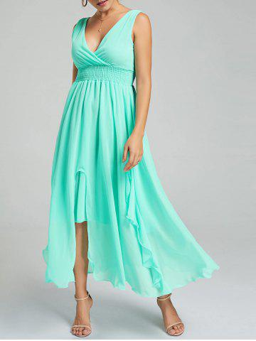 Outfits Empire Waist Chiffon Evening Dress - APPLE SLICE L Mobile