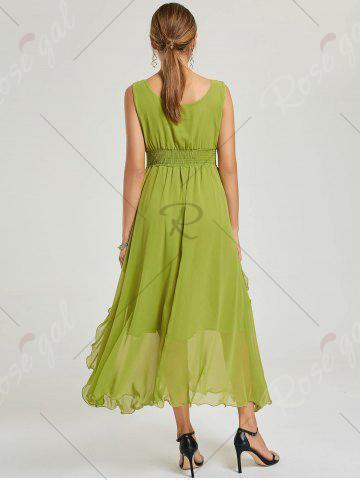 Outfits Empire Waist Chiffon Dress - XL GREEN Mobile