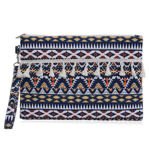 New Tribal Canvas Clutch Bag
