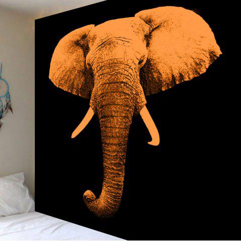 Online Home Decoration Elephant Print Wall Hanging Tapestry - W59 INCH * L51 INCH BROWN Mobile