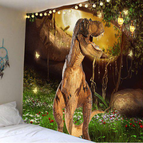 Dinosaur Garden Butterfly Wall Art Tapestry - Colorful - W79 Inch * L59 Inch