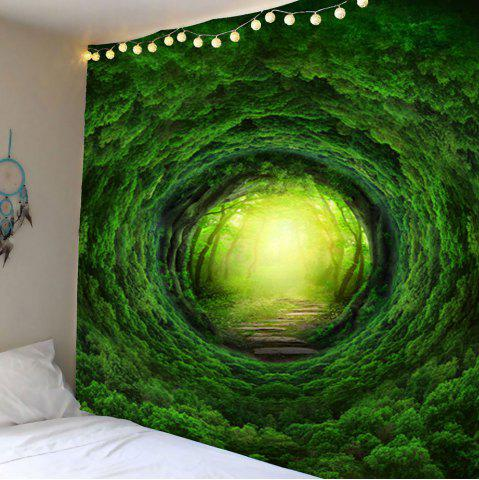 Store Home Decor Nature Tree Hole Wall Hanging Tapestry - W59 INCH * L51 INCH GREEN Mobile