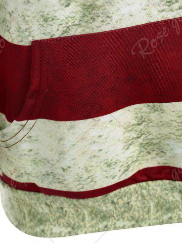 Outfit American Flag 3D Print Distressed Sweatshirt - M COLORMIX Mobile