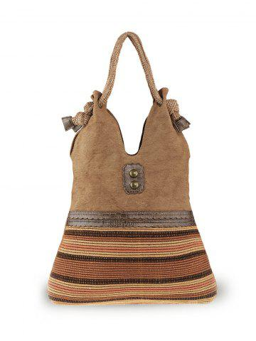 Buy Ethnic Linen Large Shoulder Bag