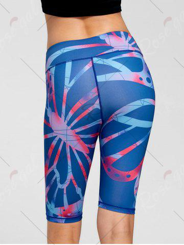 Hot Active Pattern Running Slim Shorts - S BLUE Mobile