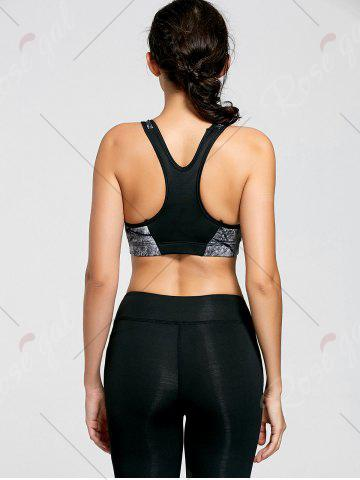 Outfit Ink Painting Padded Sports Bra - M CHROME Mobile
