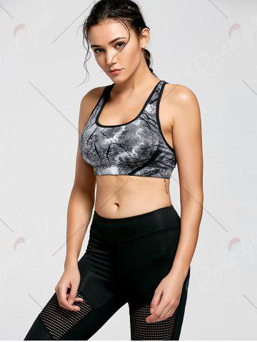 Hot Ink Painting Padded Sports Bra - M CHROME Mobile