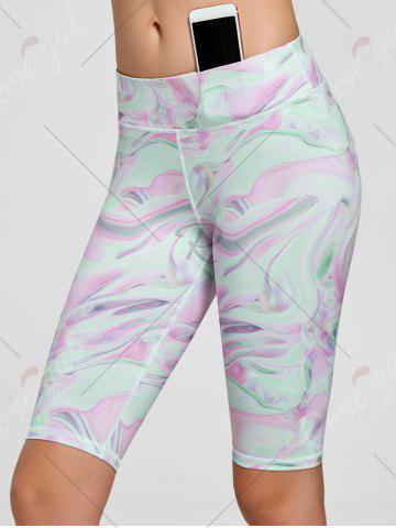 Unique Fresh Pattern Sports Shorts - S PINK Mobile