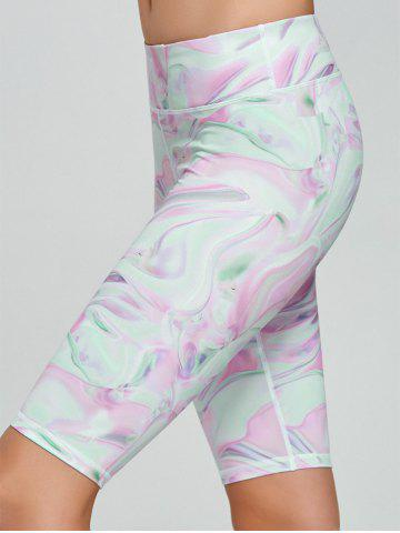 Chic Fresh Pattern Sports Shorts - XL PINK Mobile