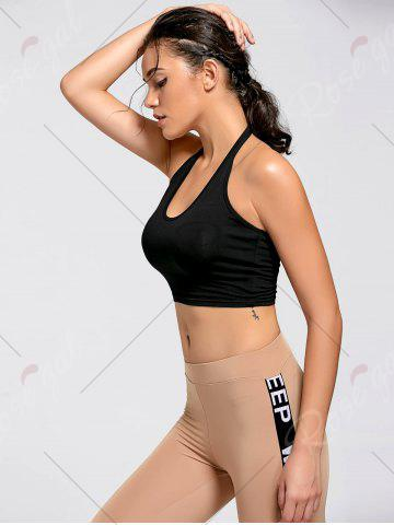 Store Sports Crop Halter Top - M BLACK Mobile