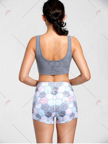 Online Active Cropped Front Tie Tank Top - L LIGHT GREY Mobile