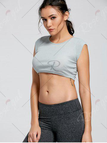 New Active Ribbed Crop T-shirt - M SMOKY GRAY Mobile