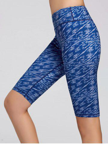 Affordable Sports Tie Dye Printed Leggings - S BLUE Mobile