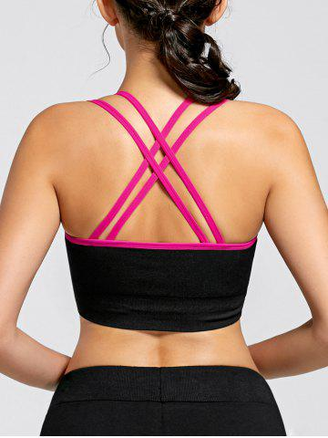 Trendy Padded Strappy  Yoga Criss Cross Bra - M TUTTI FRUTTI Mobile