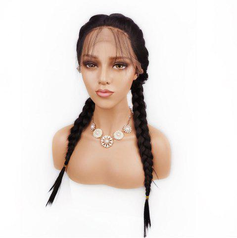 Outfits Free Part Long Straight Lace Front Synthetic Wig - DEEP BROWN  Mobile