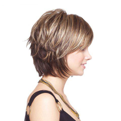 Hot Short Shaggy Colormix Layered Straight Synthetic Wig - COLORMIX  Mobile