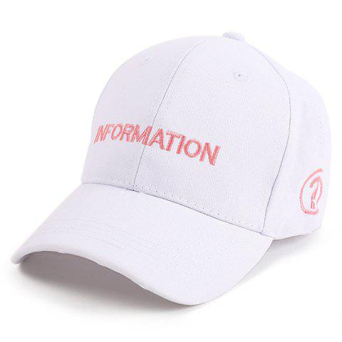 Online Letters Question Mark Embellished Baseball Cap